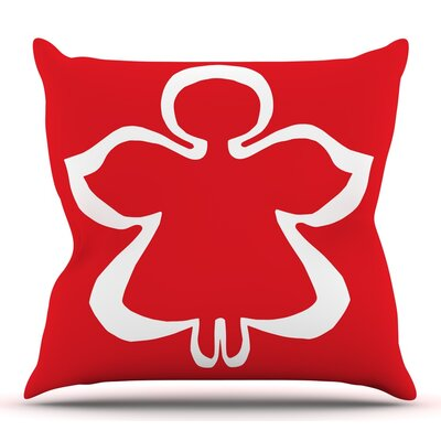 Flying Angel by Miranda Mol Throw Pillow Size: 20 H x 20 W