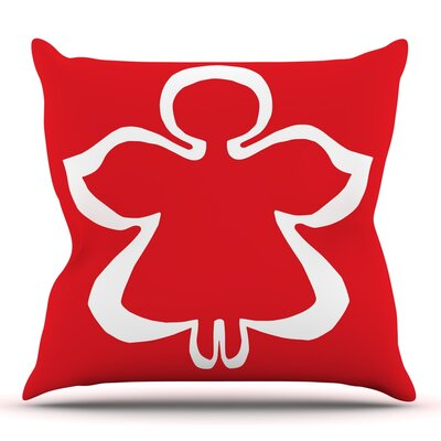 Flying Angel by Miranda Mol Throw Pillow Size: 26 H x 26 W