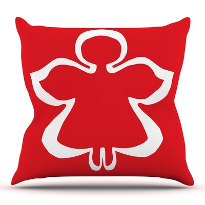 Flying Angel by Miranda Mol Throw Pillow Size: 16 H x 16 W