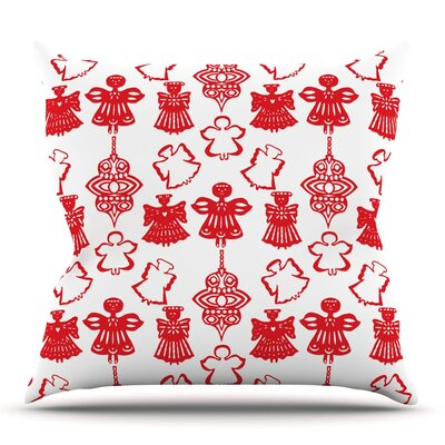 Angels Singing by Miranda Mol Throw Pillow Size: 18 H x 18 W