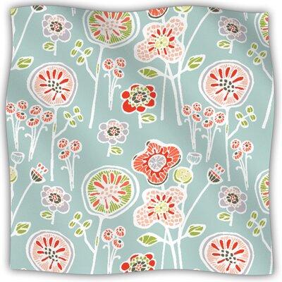 Folky Floral Fleece Throw Blanket
