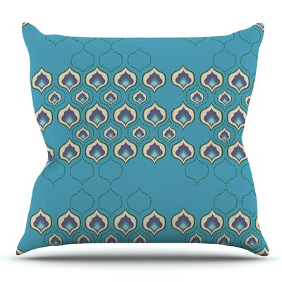 Happy Path Throw Pillow Size: 16 H x 16 W x 3 D