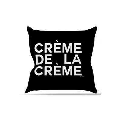 Creme De La Creme Throw Pillow Size: 18 H x 18 W x 3 D