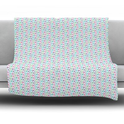 Geeky DNA Fleece Throw Blanket Size: 40 L x 30 W