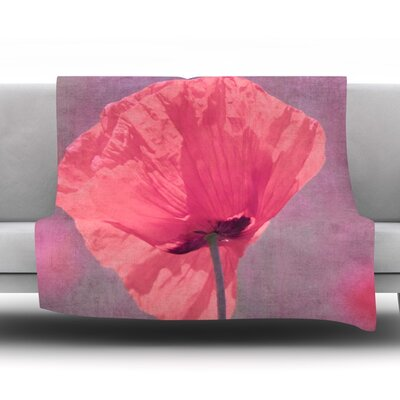 Poppy Fleece Throw Blanket Size: 60 L x 50 W