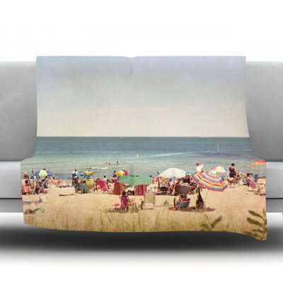 Summertime Fleece Throw Blanket Size: 60 L x 50 W