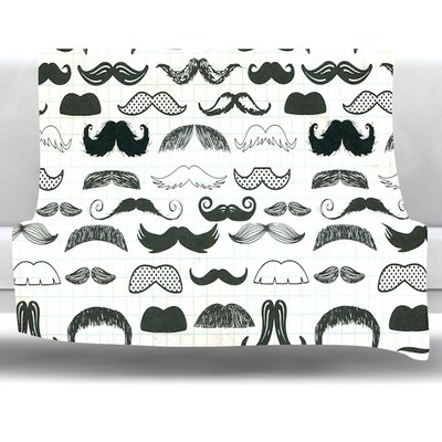 Stached Fleece Throw Blanket Size: 40 L x 30 W