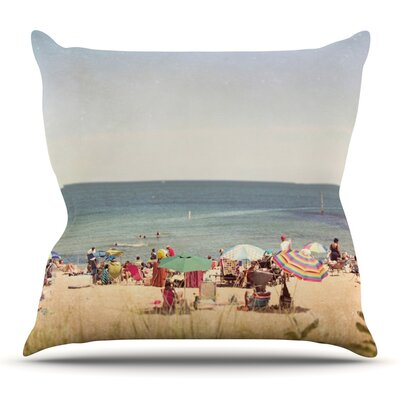 Summertime Throw Pillow Size: 18 H x 18 W x 3 D