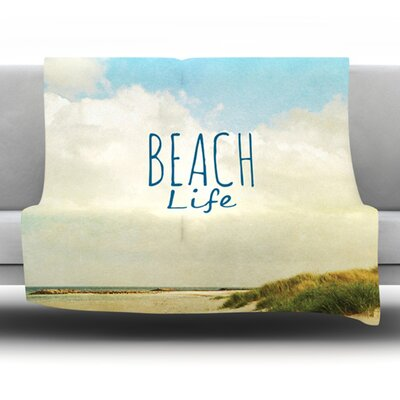 Beach Life Fleece Throw Blanket Size: 60 L x 50 W