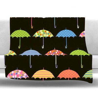 Umbrella Fleece Throw Blanket Size: 40 L x 30 W