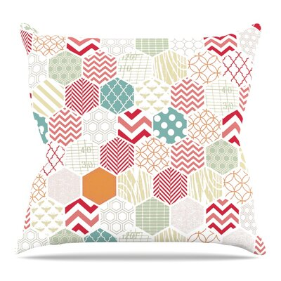 Geo Pastel Throw Pillow Size: 18 H x 18 W x 3 D