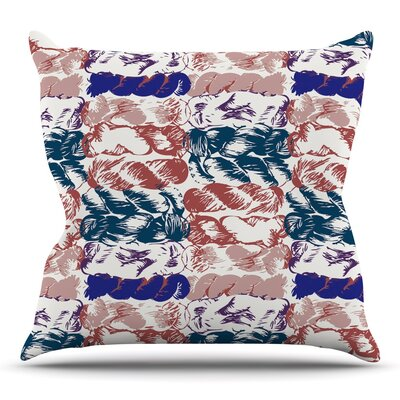 Throw Pillow Size: 18 H x 18 W x 3 D, Color: Blue Red