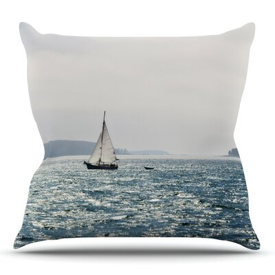 Sail the Sparking Seas Throw Pillow Size: 16 H x 16 W x 3 D