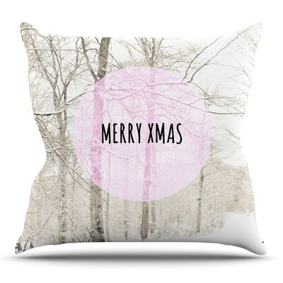 Merry Xmas Throw Pillow Size: 16 H x 16 W x 3 D