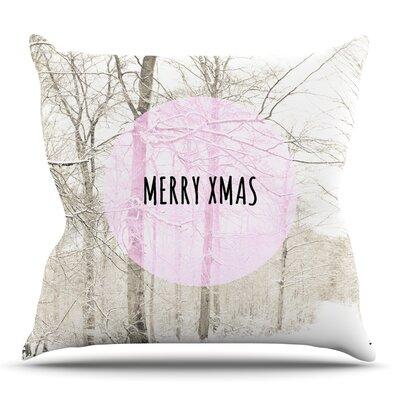 Merry Xmas Throw Pillow Size: 26 H x 26 W x 5 D