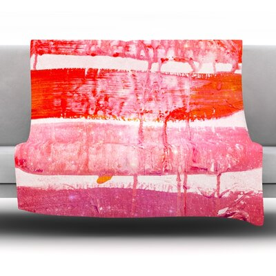 Coral Paint Wash Fleece Throw Blanket Size: 40 L x 30 W