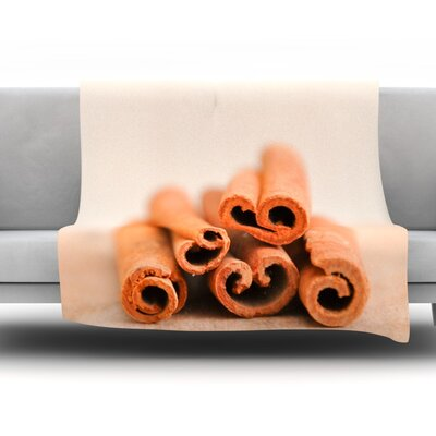 Cinnamon Fleece Throw Blanket Color: Brown, Size: 60 L x 50 W