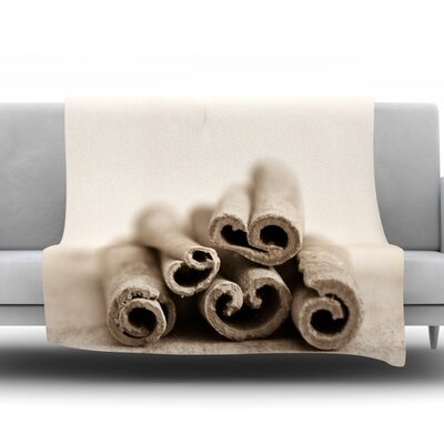 Cinnamon Fleece Throw Blanket Size: 80 L x 60 W, Color: Gray
