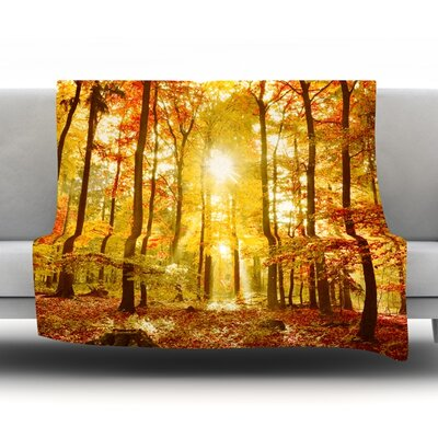 Fleece Throw Blanket Size: 80'' L x 60'' W