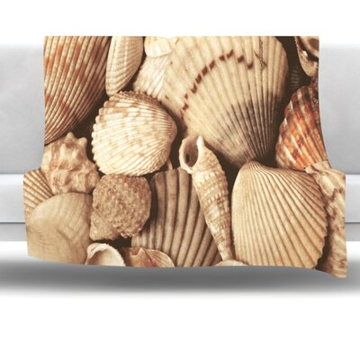 Shells Fleece Throw Blanket Size: 40 L x 30 W