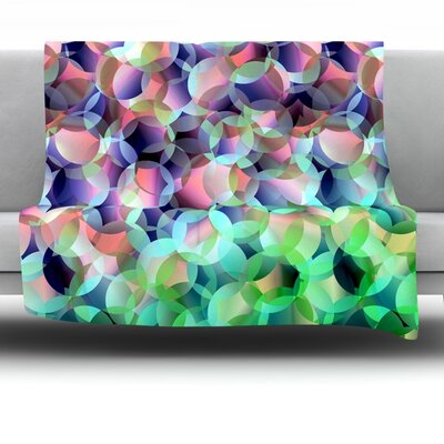 Bubbles Fleece Throw Blanket Size: 60 L x 50 W