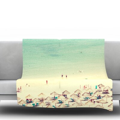 Happy Summer Fleece Throw Blanket Size: 40 L x 30 W