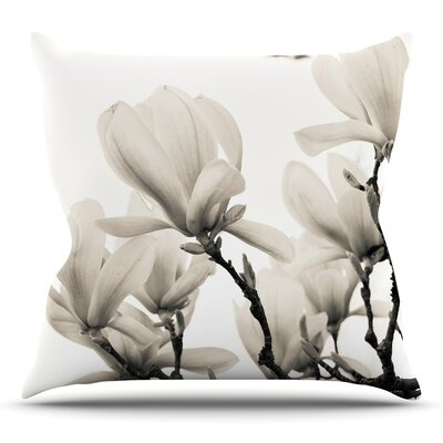 Magnolia Blossoms Throw Pillow Size: 26 H x 26 W x 5 D