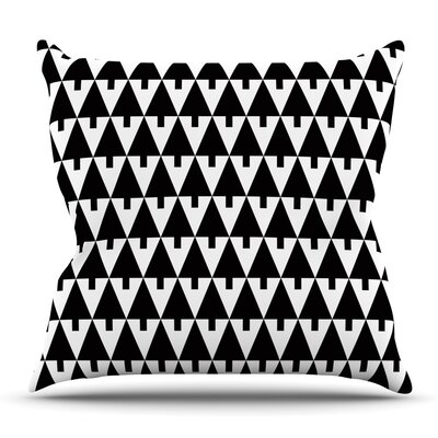 Throw Pillow Size: 18 H x 18 W x 3 D, Color: Black White
