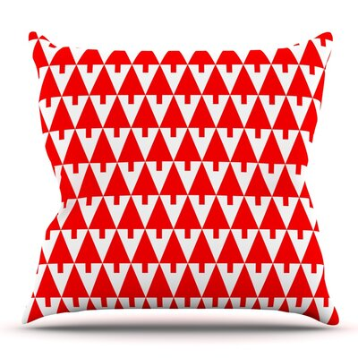 Throw Pillow Size: 20 H x 20 W x 4 D, Color: Red