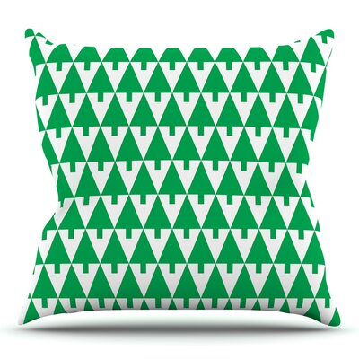 Throw Pillow Size: 20 H x 20 W x 4 D, Color: Green