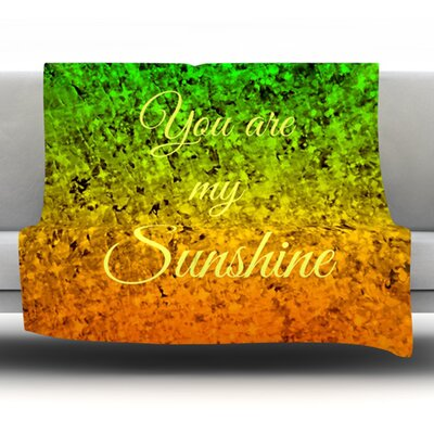 You Are My Sunshine Fleece Throw Blanket Size: 40 L x 30 W
