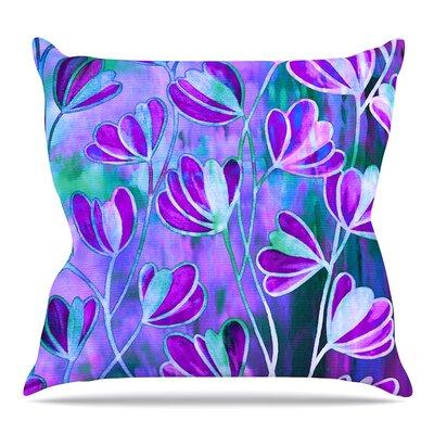 Efflorescence Throw Pillow Size: 18 H x 18 W x 3 D, Color: Lavender Blue