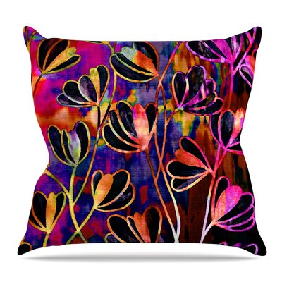 Efflorescence Throw Pillow Size: 16 H x 16 W x 3 D, Color: Red Pink