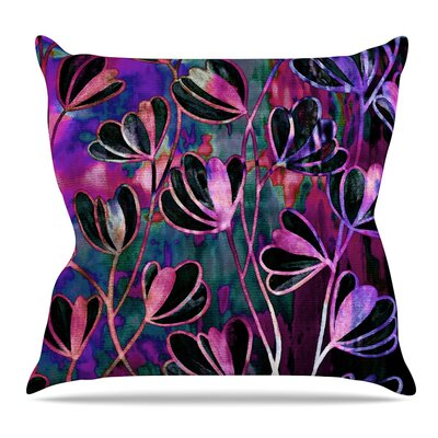 Efflorescence Throw Pillow Size: 26 H x 26 W x 5 D, Color: Mixed Berry