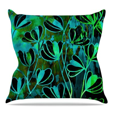 Efflorescence Throw Pillow Size: 26 H x 26 W x 5 D, Color: Lime Green
