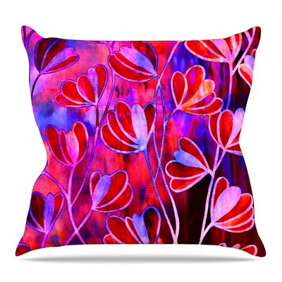 Efflorescence Throw Pillow Size: 26 H x 26 W x 5 D, Color: Red Pink