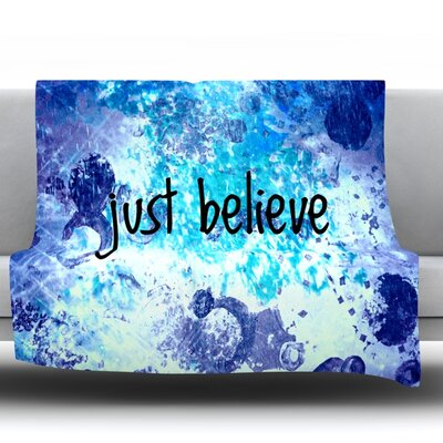 Just Believe Fleece Throw Blanket Size: 40 L x 30 W