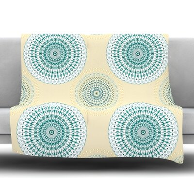 Soft Mandalas Fleece Throw Blanket Size: 80 L x 60 W