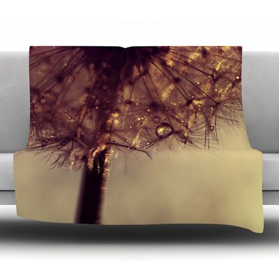 Droplets of Gold Fleece Throw Blanket Size: 60 L x 50 W
