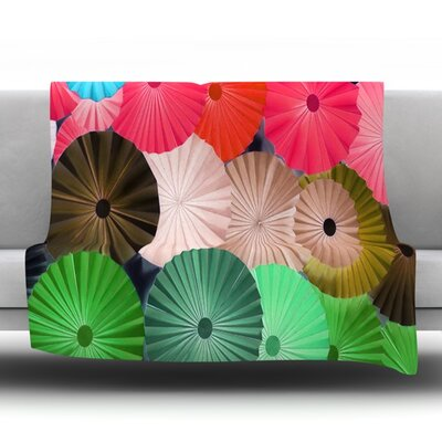 Parasol Fleece Throw Blanket Size: 60 L x 50 W