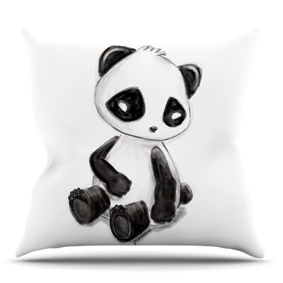 My Panda Sketch Throw Pillow Size: 26 H x 26 W x 5 D