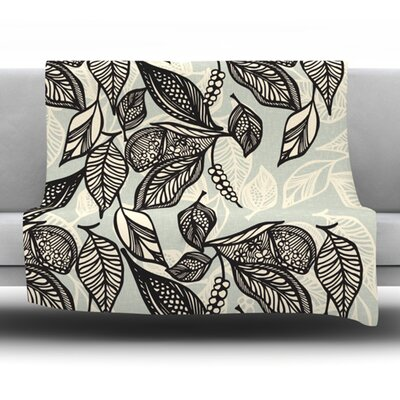Java Leaf Fleece Throw Blanket Size: 40 L x 30 W