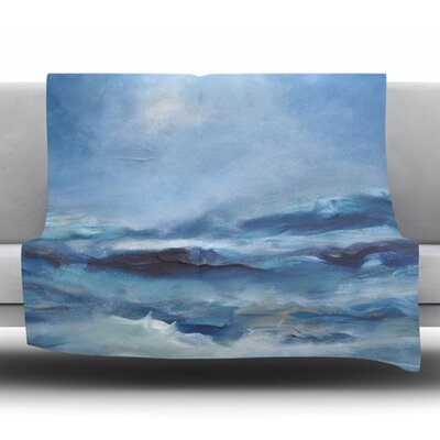Rough Sea Fleece Throw Blanket Size: 60 L x 50 W