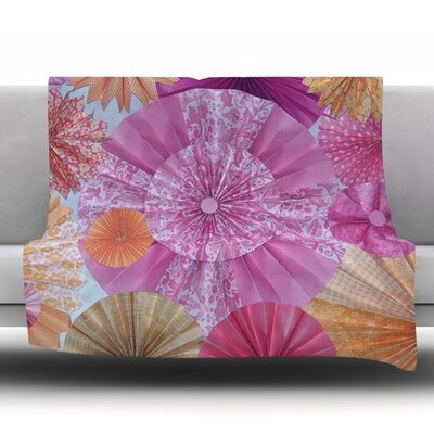 Blossoming Fleece Throw Blanket Size: 80 L x 60 W