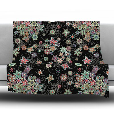 My Small Flowers Fleece Throw Blanket Size: 60 L x 50 W