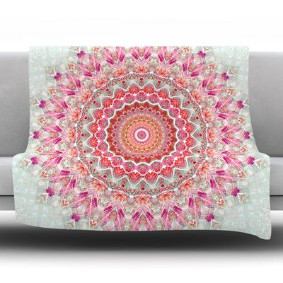 Summer Lace III Fleece Throw Blanket Size: 40 L x 30 W