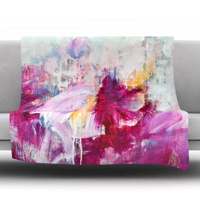 Magenta Fleece Throw Blanket Size: 80 L x 60 W