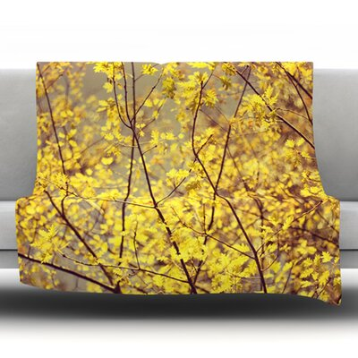 Autumn Fleece Throw Blanket Size: 60 L x 50 W