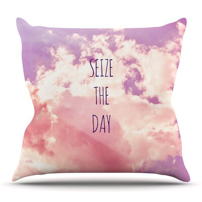 Seize the Day Throw Pillow Size: 16 H x 16 W x 3 D