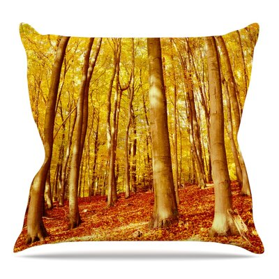 Forest Colors Throw Pillow Size: 20 H x 20 W x 4 D